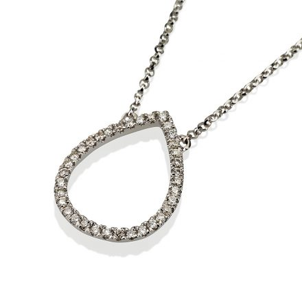 Pear Diamond Necklace Design