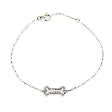 Diamonds Bone bracelet