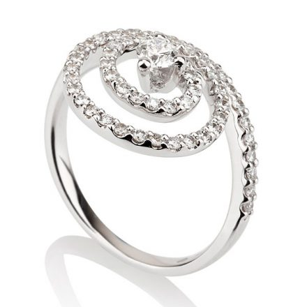 Spiral Diamonds Ring
