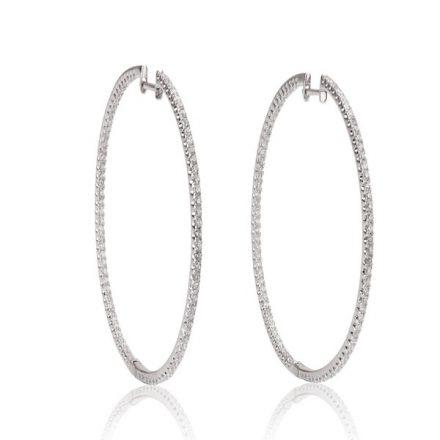 Thin Diamond Hoops