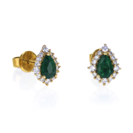 Green Emerald Earrings